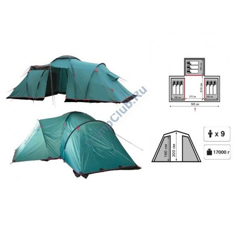 Палатка кемпинговая Tramp Brest 9 - TRT-073.04
