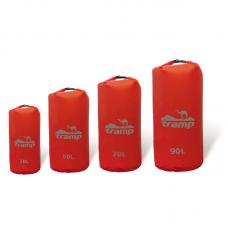 Гермомешок нейлон красный 90л - Tramp TRA-105