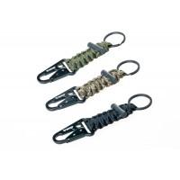 Брелок паракордовый для ключей (карабин/кольцо для ключей/огниво) оливковый