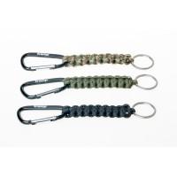 Брелок паракордовый для ключей (карабин/кольцо для ключей) оливковый