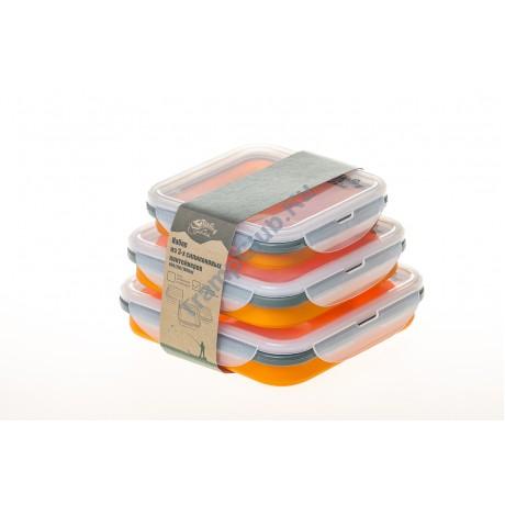Набор из 3х силиконовых контейнеров (оранжевый) - Tramp TRC-089