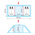 Палатка кемпинговая Tramp Brest 4 - TRT-065.04