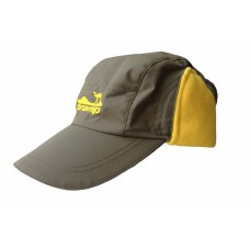 Tramp теплая зимняя кепка   (хаки/желтый)