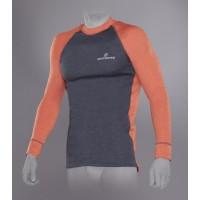 Футболка Trekking  мужская (серый/оранжевый) с длинным рукавом