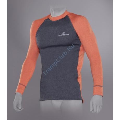 Tramp футболка с длинным рукавом мужская Trekking (серый/оранжевый)
