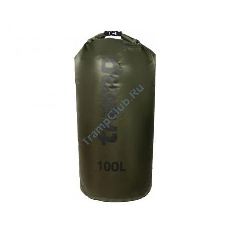 Гермомешок ПВХ Diamond RipStop оливковый 100л - Tramp TRA-210