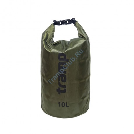 Гермомешок ПВХ Diamond RipStop оливковый 10л - Tramp TRA-111