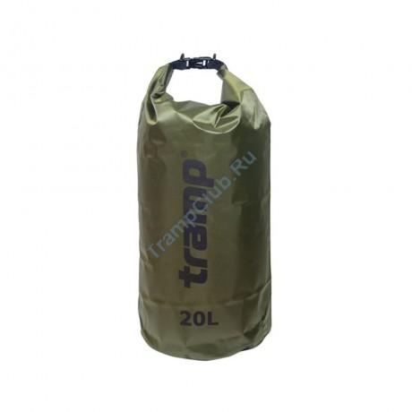 Гермомешок ПВХ Diamond RipStop оливковый 20л - Tramp TRA-113