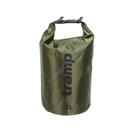 Гермомешок ПВХ Diamond RipStop оливковый 5л - Tramp TRA-110