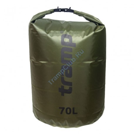 Гермомешок ПВХ Diamond RipStop оливковый 70л - Tramp TRA-209