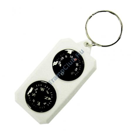 Компас-брелок с термометром - Sol SLA-003
