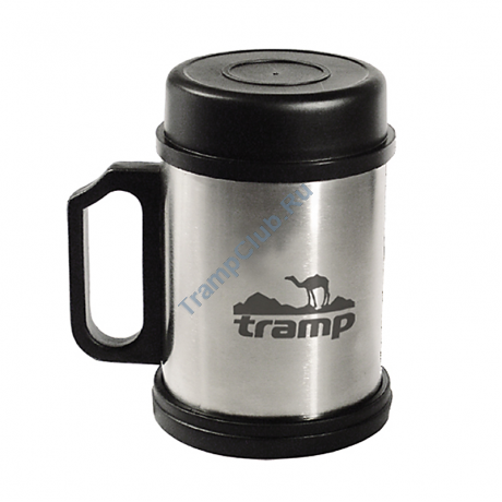 Термокpужка с крышкой и подставкой 300 мл. - Tramp TRC-006