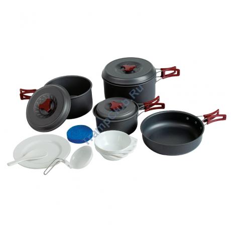 Набор посуды (анодированный алюминий) - Tramp TRC-026