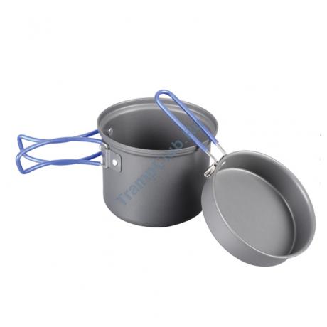 Котел с крышкой-сковородой из анодированного алюминия 1 л. - Tramp TRC-039