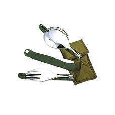 Набор складных столовых приборов (нержавеющая сталь) - Tramp TRC-049
