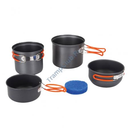 Набор посуды (анодированный алюминий) - Tramp TRC-075