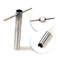 Tramp набор ввертышей (4шт, привар. ручка) нерж. сталь/130х16мм