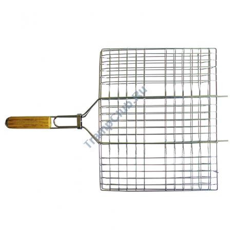 Решетка-гриль хром плоск. малая - Totem TTB-002