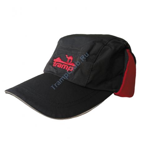 Tramp теплая зимняя кепка  (черный/красный)